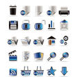 25 realistic detailed internet icons vector image