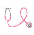 3d pink stethoscope breast cancer awareness vector image vector image