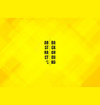 abstract bright yellow color squares shape vector image vector image