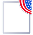american flag patriotic decorative frame vector image vector image