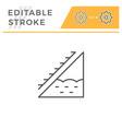 attic insulation line icon vector image vector image