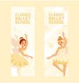 ballet dancer ballerina woman character vector image vector image