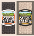 banners for solar energy vector image vector image