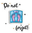 bathroom weight scale sticker fashion patch vector image