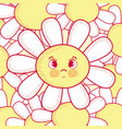 beautiful flower cartoon vector image vector image