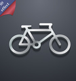 bike icon symbol 3D style Trendy modern design vector image