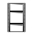 blank film strip negative border hole vector image