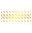 break chain link gold halftone array vector image vector image