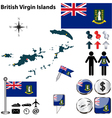 British Virgin Islands map vector image vector image