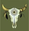 bull skull Ethnic style vector image vector image