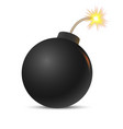 cartoon bomb vector image