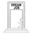 cartoon confident man or businessman walking vector image