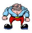 cartoon image of tough man vector image vector image