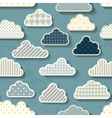 Cartoon sky with clouds vector image vector image