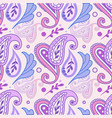 classic paisley pattern in pink and purple vector image vector image