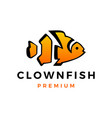 clown fish aquarium logo icon vector image