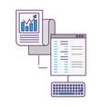 coding program keyboard report document vector image vector image