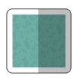 color middle shadow sticker with square with vector image vector image