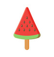 colorful watermelon ice cream with stick vect vector image vector image