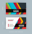 creative and clean business card template vector image vector image