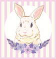 cute bunny girl with crown dream big princess vector image
