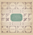 decorative corners and frames vector image vector image