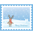 deer snow vector image vector image
