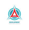 development business logo design abstract vector image vector image