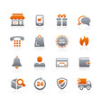 e-shopping icons - graphite series vector image