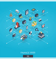 finance integrated 3d web icons digital network vector image vector image