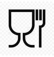 food grade icon food safe material wine glass and vector image vector image