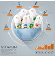 Global Medical And Health Infographic With Round vector image vector image