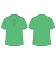 Green tshirt vector image