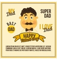 Greeting Card Dad vector image vector image