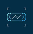 handheld game console linear concept vector image vector image