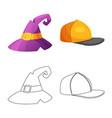headgear and cap icon vector image