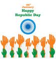 indian republic day design vector image