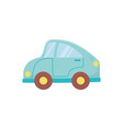 kids toy blue car transport plastic icon vector image vector image