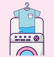 laundry cleaning related vector image vector image