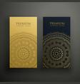mandala premium business card design vector image vector image