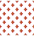 Marijuana leaf with a red cross pattern vector image vector image