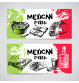 Mexican traditional food menu Hand drawn sketch vector image vector image