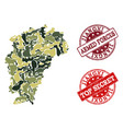 military camouflage composition of map of jiangxi vector image vector image
