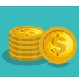 money coins isolated icon vector image