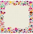 mushrooms butterflies snails flowers border vector image vector image