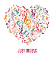 music heart vector image vector image