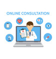 online medical consultation and support doctor vector image