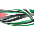 palestine horizontal background flag vetcor vector image vector image