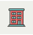 Residential building thin line icon