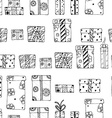 Seamless texture gift boxes vector image vector image